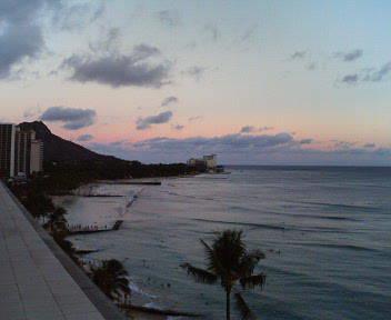 ハワイの夕景