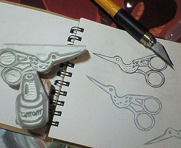 消しゴム彫ってみた……。